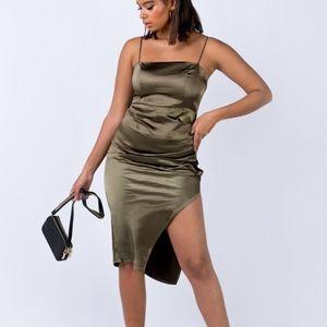 Bulli Midi Khaki Dress